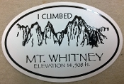 I Climbed Mt Whitney Decal