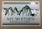 Mt Whitney Decal (Square)