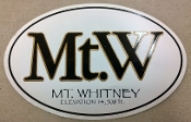 Mt.W Decal (Large Oval)