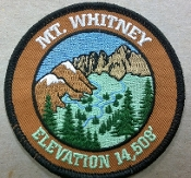 Mt. Whitney Patch (Brown)