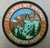 I Climbed Mt Whitney Brown Patch