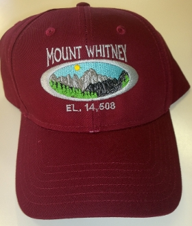 I Climbed Mt Whitney Cap (Maroon)