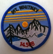 Mt. Whitney Round Patch (Blue)