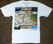 Mt. Whitney Map T-Shirt