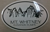 Mt Whitney Decal