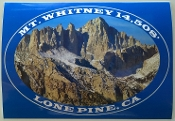 Mt.Whitney Decal Postcard