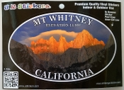 Mt Whitney Vinyl Decal