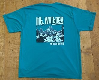 "Mt Whitney T-Shirt ""The Rest is Down Hill"""