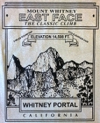 Mount Whitney East Face T shirt