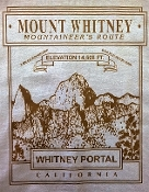 Mount Whitney Mountaineer's Route T shirt