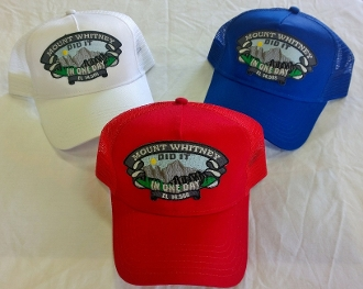Mt Whitney The Big One In One Day mesh trucker cap
