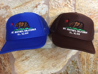 Mt Whitney California (Republic) Mesh Baseball Cap SOLID color
