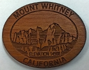Mt Whitney Wooden Magnet