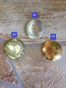 Three available options. Option #1- Pewter (Silver). Option #2- Bronze. Option #3- Gold.