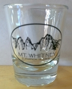 Mt whitney Shot Glass (Clear)